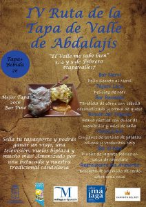 Cartel de la Ruta de la Tapa del Valle de Abdalajís 2017